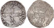 France 1/4 Ecu Henri III - 1588 - Rennes (9)