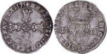 France 1/4 Ecu Henri IV -  Argent - 1595 L Bayonne