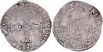 France 1/4 Ecu Henri IV -  Argent - 1602 L Bayonne