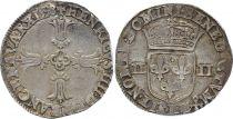 France 1/4 Ecu Henri IV - 1598 L Bayonne - Argent