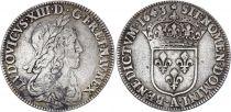 France 1/4 Ecu Louis XIII - 1643 A Paris Silver