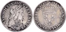 France 1/4 Ecu Louis XIII 2 em poinçon de Warin  - 1642 .A.
