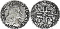 France 1/4 Ecu Louis XIV - 8 L - 1690 - D Lyon - Argent