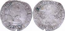 France 1/4 Franc  Henri III Col Fraisé - Argent - 1577 B Rouen