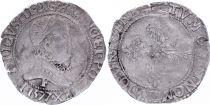 France 1/4 Franc  Henri III Col Fraisé - Argent - 1577 F Angers