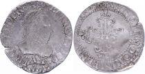 France 1/4 Franc  Henri III Col Fraisé - Silver - 1576 A