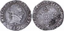 France 1/4 Franc  Henri III Col Plat - Silver - 1587 A