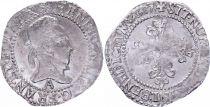 France 1/4 Franc Henri III Col Plat - Argent - 1587 A