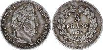France 1/4 Franc Louis-Philippe 1er - 1834 H La Rochelle - Argent