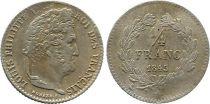 France 1/4 Franc Louis-Philippe 1er - 1843 A Paris - Argent