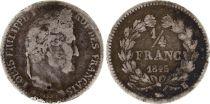 France 1/4 Franc Louis-Philippe 1er - 1845 B Rouen - Argent