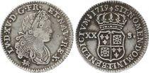 France 1/6 Ecu Louis XV - Armoiries 1719 T
