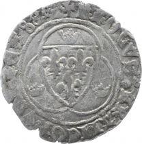 France 1 Blanc à la Couronne, Charles VII - ND (1422-1461) - KROLVS