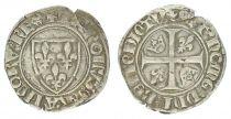 France 1 Blanc Guénar, Charles VI - ND (1380-1422) - Romans Point 2e