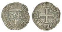 France 1 Blanc Guénar, Charles VI - ND (1380-1422) - Tournai Point 16e