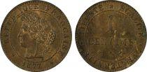 France 1 Cent Cérès - Third Republic - 1877 A - PCGS MS 64RB