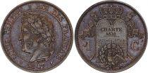 France 1 Centime  - Louis Philippe - Essai à la charte - 1847