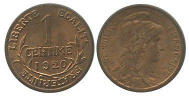 France 1 Centime Dupuis - 1920