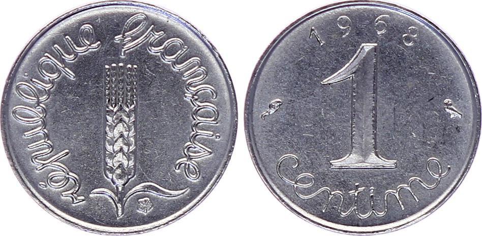 France 1 Centime Epi - 1968