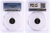 France 1 Centime Epi - 1973 - PCGS MS 68