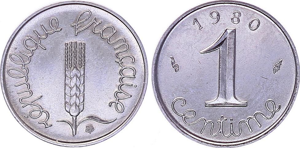 France 1 Centime Epi - 1980 FDC - Issu de coffret