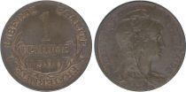 France 1 Centime Liberty head - 1900 Scarce !