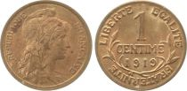 France 1 Centime Liberty head - 1919