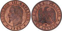 France 1 Centime Napoléon III - Tête Laurée -1862 BB - 2 e ex