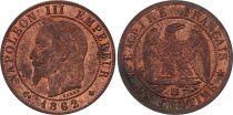 France 1 Centime Napoléon III - Tête Laurée -1862 BB - 5 e ex