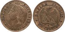 France 1 Centime Napoléon III - Tête Laurée -1862 K