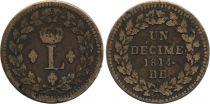 France 1 Décime - Louis XVIII - Blocus de Strabourg 1814 BB