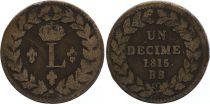 France 1 Décime - Louis XVIII - Blocus de Strabourg 1815 BB