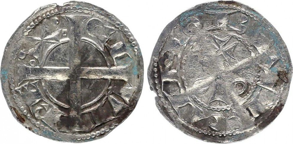 France 1 Denier, County of Provence - Alphonse II d Aragon father (1162-1196)