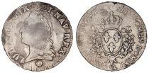 France 1 Ecu Louis XV à la vieille tête - 1772 Q Perpignan