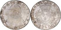 France 1 Ecu Louis XV aux branches d´olivier - 1727 L