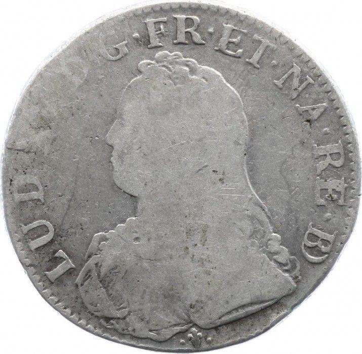 France 1 Ecu Louis XV aux branches d olivier - 1731 Pau