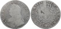 France 1 Ecu Louis XV crowned round arms of France with sprays - 1731 Pau