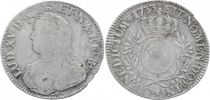 France 1 Ecu Louis XV crowned round arms of France with sprays - 1733 Pau