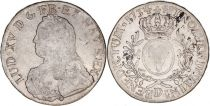 France 1 Ecu Louis XV crowned round arms of France with sprays - 1734 D Lyon