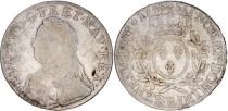 France 1 Ecu Louis XV crowned round arms of France with sprays - 1735 B Rouen