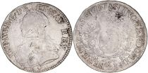 France 1 Ecu Louis XV crowned round arms of France with sprays - 1737 K Bordeaux