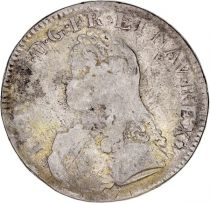 France 1 Ecu Louis XV crowned round arms of France with sprays - S Reims