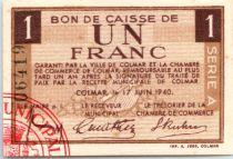 France 1 F , Colmar Chambre de Commerce, série A