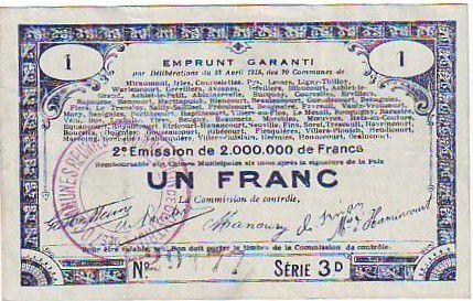 France 1 F 70 communes