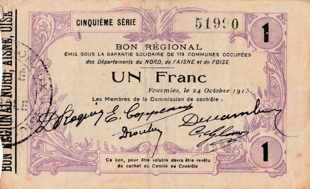 France 1 F Fourmies - Fifth serial - 24/10/1915