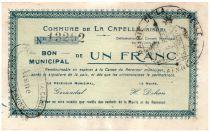 France 1 F La Capelle Commune - 1915