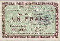 France 1 F Wallers-Trelon Bon de monnaie