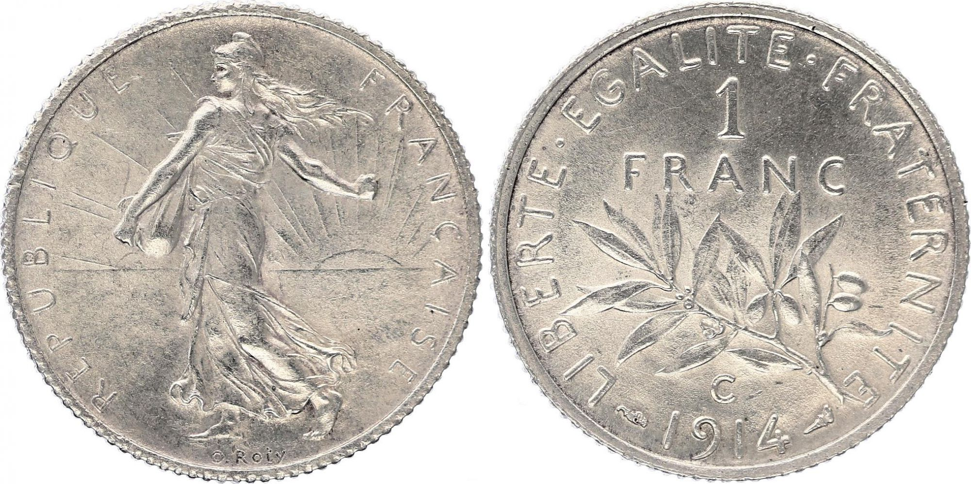 France 1 Franc - 1914 C Castelsarrasin - Silver - Scarce