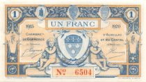 France 1 Franc - Aurillac and Cantal Chamber of Commerce 1915 - aUNC