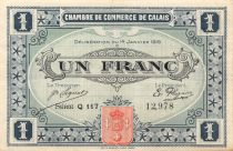 France 1 Franc - Calais Chamber of Commerce 1916 - VF